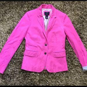 J.Crew Schoolboy Blazer Jacket Womens Size 0 Pink